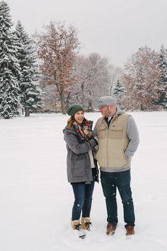 Koleby + Ryan | Boulder Snowy Winter Engagement | Meg Newton
