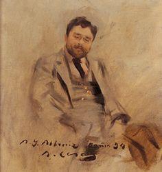 Isaac Albéniz y Pascual (1860-1909), painting (1894), by Ramón Casas y Carbó (1866-1932).