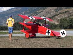 Fokker DR.1 Gigantic RC Airplane 3x wings Stunt flying