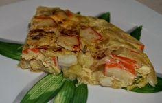 Tortilla de vegetales y sucedáneo de cangrejo
