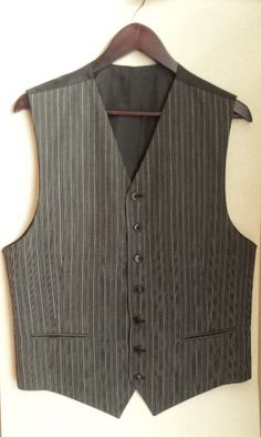Vintage Mens Vest Grey Free shipping Checkered by TinutesCreations, $22.00