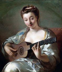 Jean-François de Troy (1679-1752): The Guitar Player. 18th century.