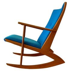 Georg Jensen Danish Teak Rocker 1958 | From a unique collection of antique and modern rocking chairs at http://www.1stdibs.com/furniture/seating/rocking-chairs/