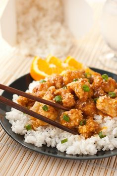 Chinese Orange Chicken - Cooking Classy im going to try to healthy this up a bit by baking the   Chicken with Panko, then put in pan to saute. Replace soy sauce with Braggs Aminos and sugar with raw honey.