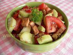 Tofu salát Tofu, Tempeh, Seitan, Fruit Salad, Fruit Salads