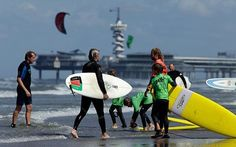 Scheveningen is Holland's best place for surfing. Surfing is one of the key sports for the municipality of The Hague. The beach of Scheveningen therefore features the best surfing facilities imaginable.