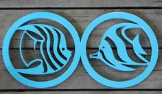 25.5 x 13cm Laser Cut  and Painted Blue MDF - Wall Art - unique and eye catching