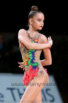 Dina AVERINA (Russia) ~ Ribbon @ GP Thiais 2016 Photographer Bernd Thierolf.