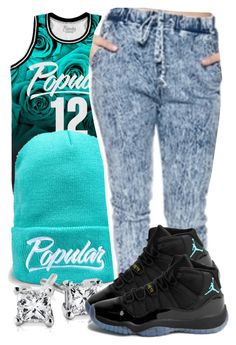 """""""Untitled #955"""" by ayline-somindless4rayray ❤ liked on Polyvore featuring Blue Nile and NIKE"""