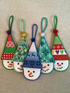 Snow Cone Ornaments ~ Canvases by Kirk&Bradley