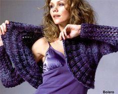 Blue Bolero free knitting graph pattern