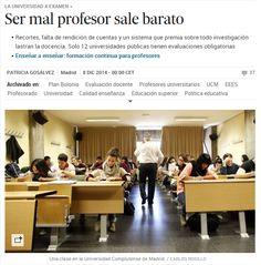 Ser mal profesor sale barato / @el_pais | #universidadencrisis #readytoteach