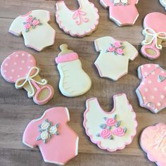 Items similar to Baby Girl Shower Cookies - 1 Dozen ***Minimum 2 Weeks for Delivery*** on Etsy Iced Cookies, Royal Icing Cookies, Sugar Cookies, Crown Cookies, Baby Girl Cookies, Baby Shower Cookies, Moldes Para Baby Shower, Lemon Biscuits, Edible Paint