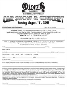 Best Car Show Forms Images On Pinterest Car Show Automobile - Car show judging sheet