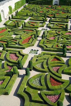 The Love Garden, Chateau Villandry, Loire Valley, France.