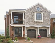 @Clopay Doors | Residential Garage Doors and Entry Doors | Commercial Doors Reserve Collection Semi-Custom Handcrafted Wood Carriage House Garage Doors Design 4 with Square 24 Glass