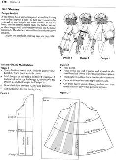 Bell sleeve pattern
