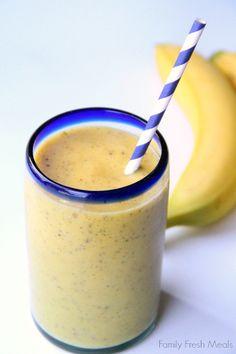 Banana Mango smoohtie - Family Fresh Meals