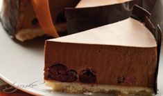 Meggyes csoki mousse torta Mousse, Desserts, Food, Tailgate Desserts, Deserts, Essen, Postres, Meals, Dessert