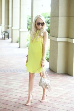 A Spoonful of Style: Yellow Shift Dress