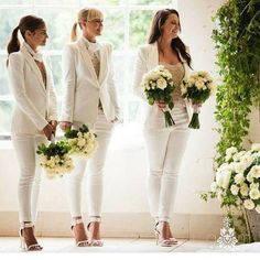 A Chic and modern take on Bridesmaid fashion. #seizetheday #bridesmaids #fashion #modernbridesmaids #chicfashion #bride #weddings #ceremony #flowers