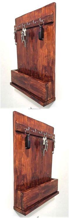 wood pallet keyholder rack mehr zum Selbermachen auf Interessante-dinge.de