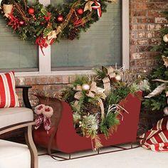 Holiday Winter Woodland Decorative Sleigh Christmas Sleighs Holidays Yard Decorations Sam S