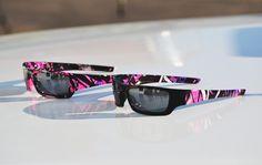 "Custom Muddy Girl sunglasses by ""Illusions Custom Coatings, LLC"".  Find them on Facebook."
