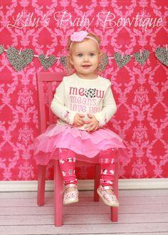 Pink Newborn Baby Girl Toddler Photo Prop Shabby Chic Heart Valentine's Day Headband Pink Shabby Heart on Pink Dotted Elastic Headband