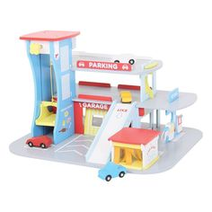 Bigjigs Toys JT106 Heritage Playset City Auto Centre Wooden