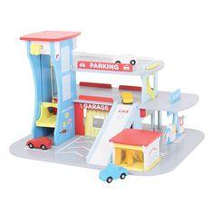 Bigjigs Toys JT106 Heritage Playset City Auto Centre Wooden