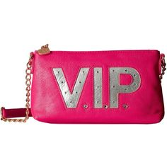 Betsey Johnson Kitch Light Up Crossbody Vip (Fuchsia) Cross Body... ($31) ❤ liked on Polyvore featuring bags, handbags, shoulder bags, pink, betsey johnson purses, handbags shoulder bags, pink shoulder bag, shoulder strap handbags and shoulder strap bags