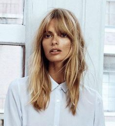 Just Cavalli Spring 2013 Runway Pictures Pony # Frisuren length hair cuts Hairstyles With Bangs, Girl Hairstyles, Blonde Fringe Hairstyles, Hairstyle Ideas, French Hairstyles, Shaggy Hairstyles, Bob Haircuts, Latest Hairstyles, Blonde Hair With Fringe