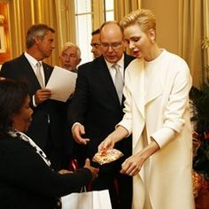The prince and princess of Monaco attende the parcel distribution of the Red Cross (317360)