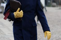 Oh...blue and yellow...I have a blue coat but not like this... The Sartorialist (c)
