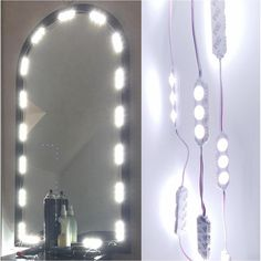 60 Leds 9.8 FT Make Up Vanity Mirror Light DIY Light Kits For Cosmetic  Makeup Va