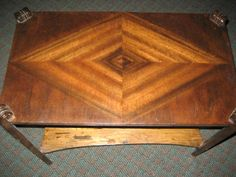 4 block square diamond inlay end table-currently for sale on craigslist and kijiji-vancouver