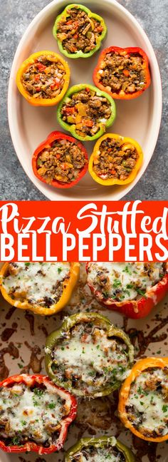 Low Unwanted Fat Cooking For Weightloss These Pizza Stuffed Bell Peppers Have The Flavors Of My Favorite Pizza, But Without The Carbs Stuffed Bell Peppers Low Carb Dinner Easy Dinner Healthy Dinner Easy Healthy Dinners, Easy Healthy Recipes, Low Carb Recipes, Beef Recipes, Dinner Healthy, Paleo Dinner, Easy Low Carb Meals, Easy Dinners, Healthy Eats