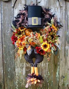Mr Turkey decked out in his pilgrim suit www.facebook.com/FancyThatWreaths