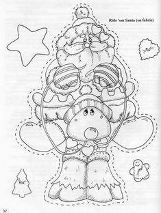 delightfull medley - Ana Pintura 2 - Álbuns da web do Picasa Christmas Stencils, Christmas Templates, Christmas Drawing, Christmas Paintings, Painting Patterns, Fabric Painting, Christmas Colors, Christmas Art, Pintura Country