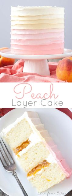 Pretty in Peach! This Peach Layer Cake is the perfect way to wrap up the summer…