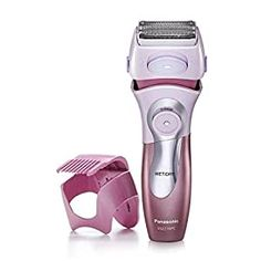 Panasonic Electric Shaver for Women - Cordless 4-Blade Razor for Wet/Dry shaving. Electric shaver and trimmer 2-in-1 Built-in pop up trimmer with attachment details for legs and underarms. Has bikini attachment with adjustable settings to trim sensitive bikini area. Wet/dry waterproof shaver allows for convenient shaving in or out of the shower. Best Bikini Trimmer, Best Trimmer, Best Electric Razor, Best Electric Shaver, Perfectly Posh, Panasonic Electric Shaver, Best Shavers, Shaving Blades, Korean Skincare