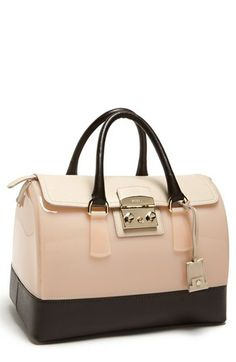 Furla 'Candy - Medium' Rubber Satchel available at #Nordstrom three color choices. Like the white one