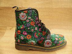 90s-green-velvet-floral-doc-martens