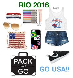 """Rio 2016!!"" by hpcc319 ❤ liked on Polyvore featuring Casetify, 3x1, NIKE, Tom Ford, Twig & Arrow, Kim Rogers, Christian Dior, Urban Decay, america and USA"