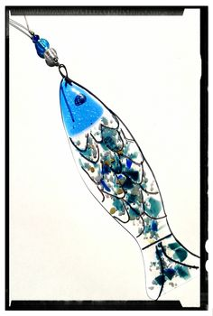 Wire and frit fused glass