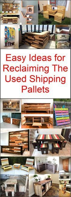 Easy Ideas for Reclaiming The Used Shipping Pallets: This can be easily attained through shipping sites. industrial areas and highways. Pallet Wood, Wood Pallets, Shipping Pallets, Easy Diy Projects, Being Used, Amazing, Awesome, Purpose, Art Pieces