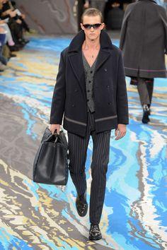 d8272d457b21 Défile Louis Vuitton Homme Automne-hiver 2014-2015 - Look 9 Mode Masculine,