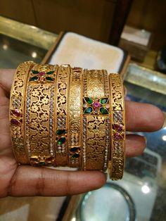 Latest Gold Bangles design..rathod jwellers Hand Jewelry, Jewelry For Her, Trendy Jewelry, Gold Bangles Design, Gold Jewellery Design, Solid Gold Bangle, Gold Wedding Jewelry, Ring, Bracelets