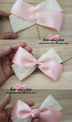 Ribbon Hair Bows, Diy Hair Bows, Diy Ribbon, Ribbon Crafts, Handmade Hair Bows, Flower Hair Bows, Fabric Hair Bows, Flower Headbands, Ribbon Flower
